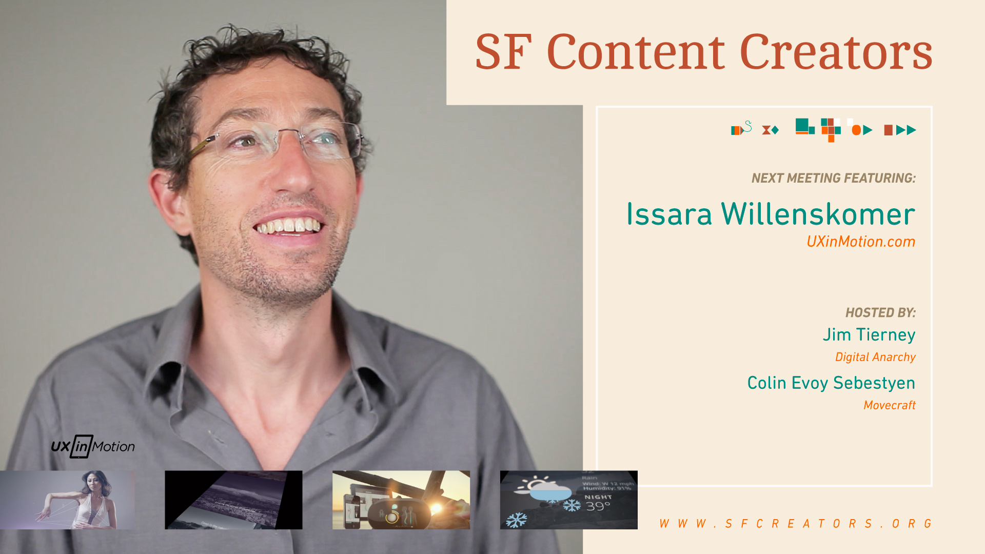 6914ba250172 A typical meetup of SF Content Creators consists of talks